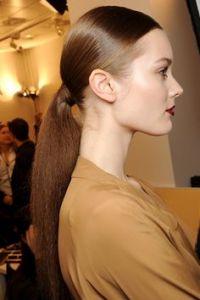 sleek pony tail